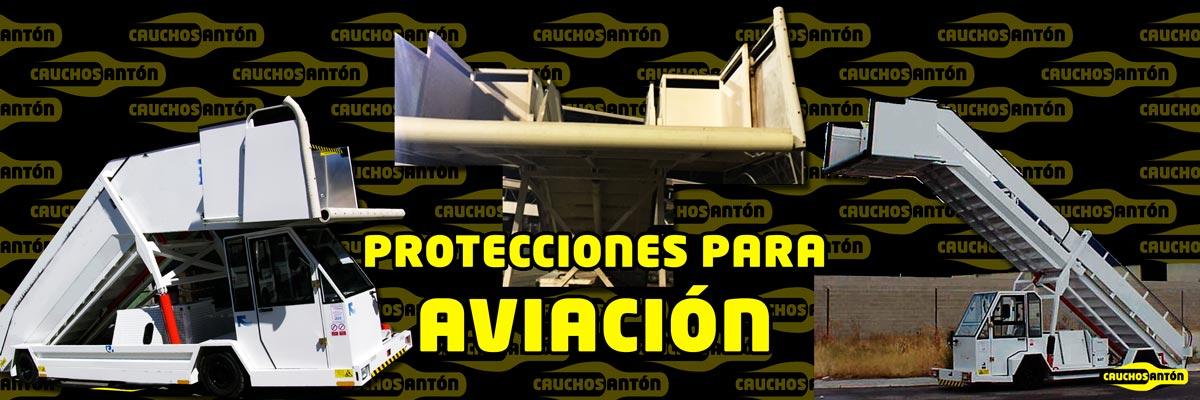 Aplicación de Cauchos antón en aeropuertos, aviones y calzos de aviación