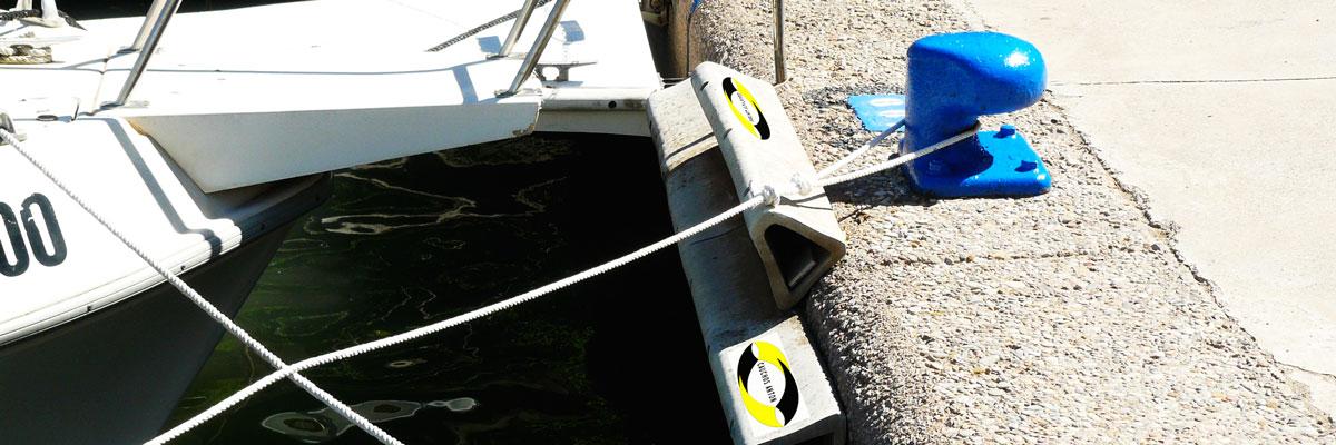 Aplicación de Cauchos antón en muelles, barcos y puertos